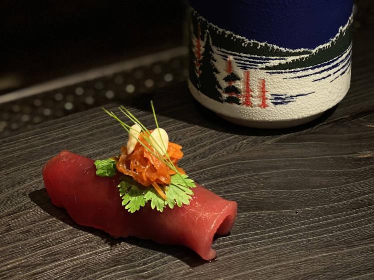 Modern sushi omakase at the Bellwood