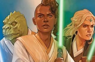 Ilustración de tres personajes del cómic Star Wars The High Republic