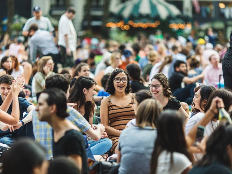 Watch a movie at Bryant Park