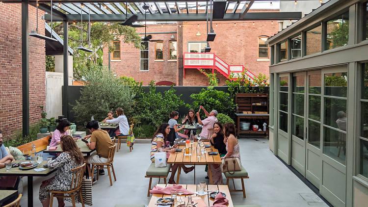 Agnes Pasadena patio