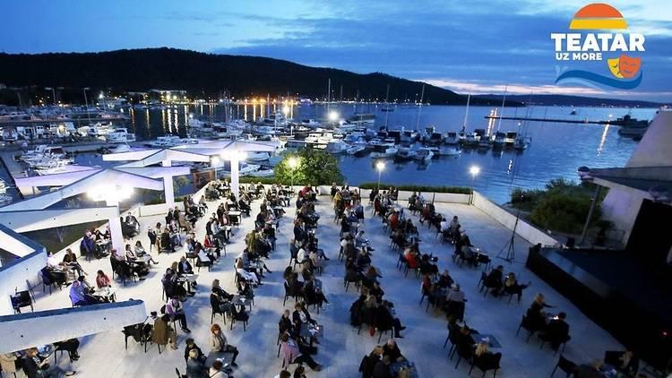 split, open, air, event, theatre, teatar, more, sea