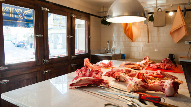 meat on a counter