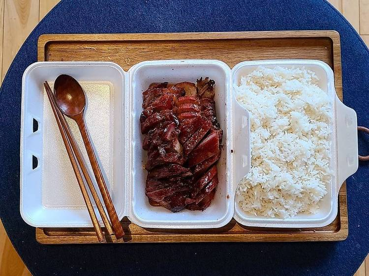 The $9.95 pound of char siu at Epicerie A. Lam Kee