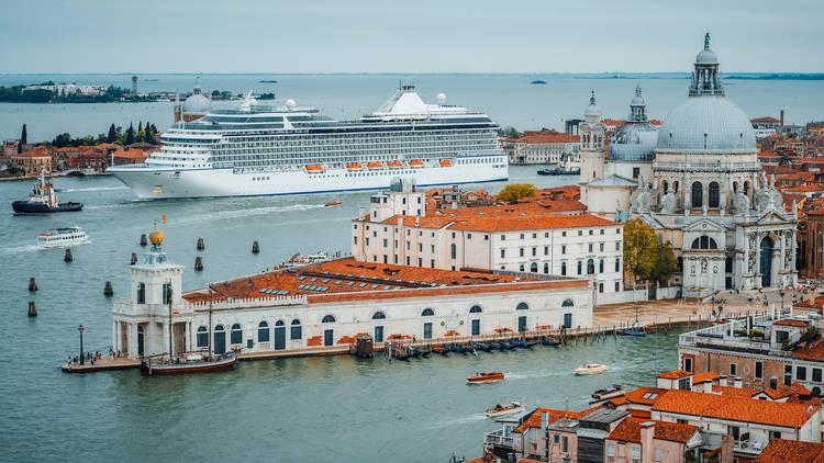 Cruise ship in Venice