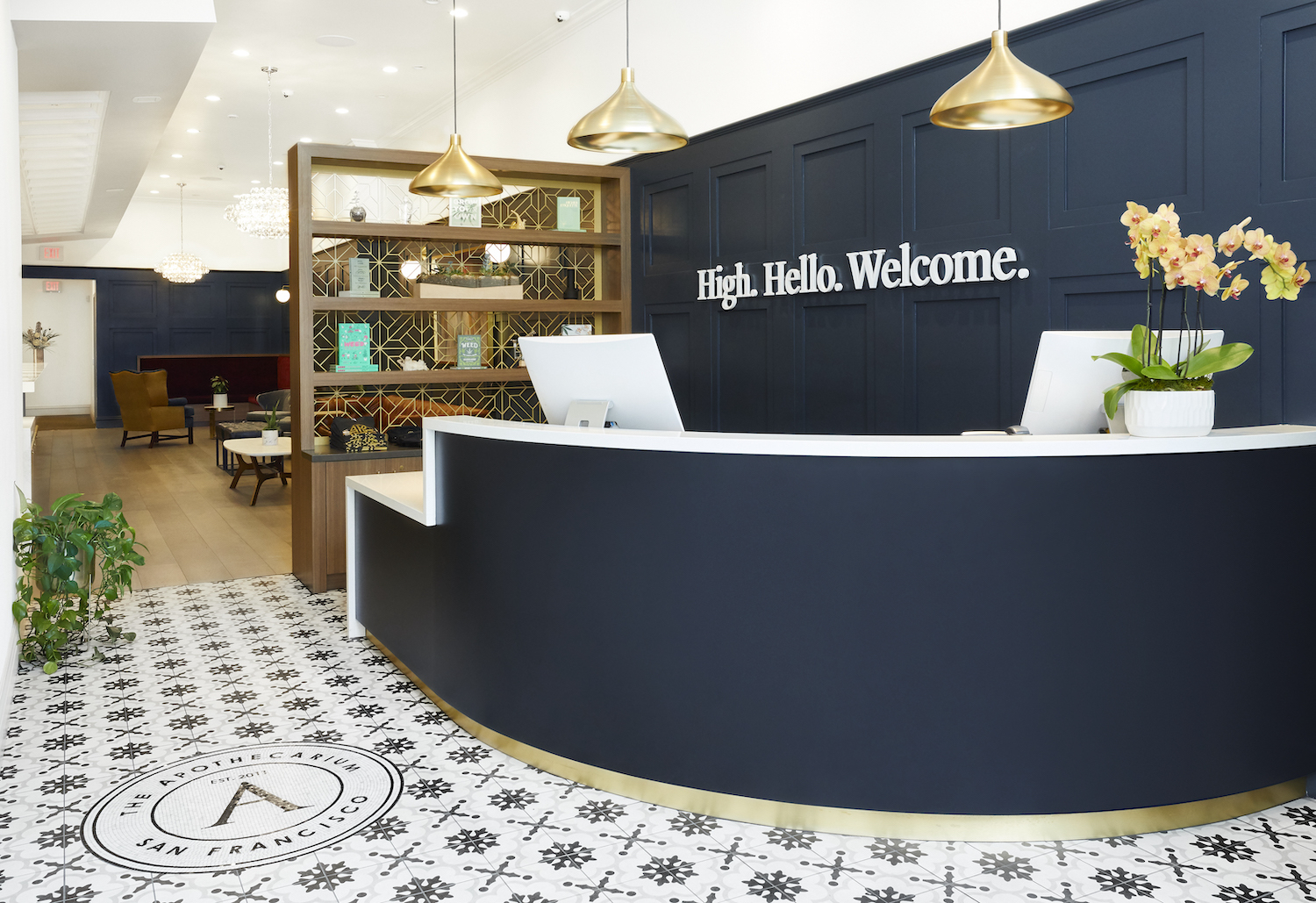 The welcome reception of a San Francisco dispensary