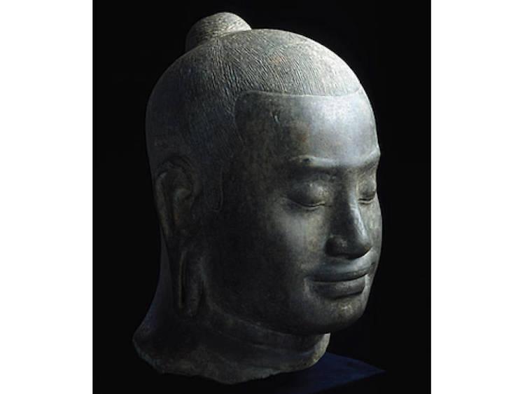 Musée Guimet • Tête de Jayavarman VII (Fin XIIe - début XIIIe siècle)