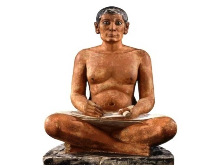 Musée du Louvre • Le Scribe accroupi (Egypte, 4e ou 5e dynastie, 2600-2350 av. J.-C.)
