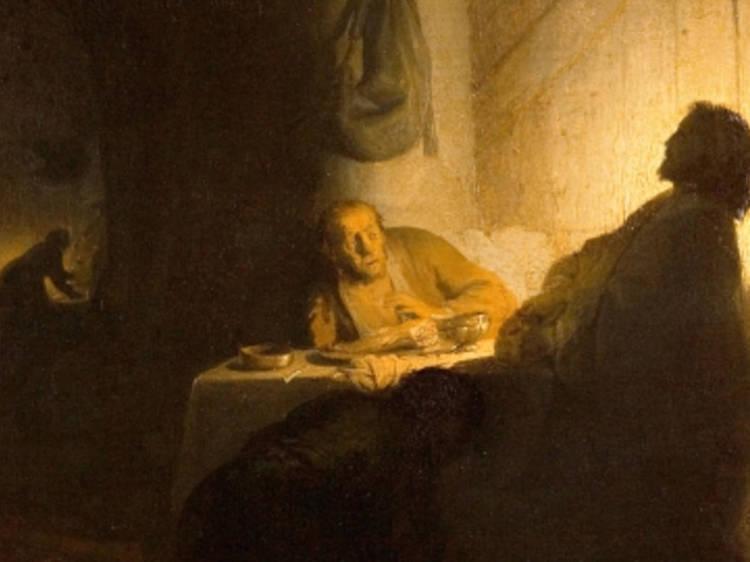 Musée Jacquemart-André • Les Pèlerins d'Emmaüs (Rembrandt, c. 1628)