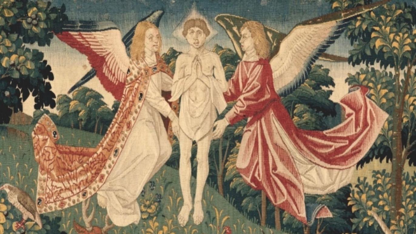 La Tenture de Saint Etienne', 'Scène 8 : Le corps du martyr exposé aux bêtes' (détail), c. 1500 / © Rmn-Grand Palais / Jean- Gilles Berizzi