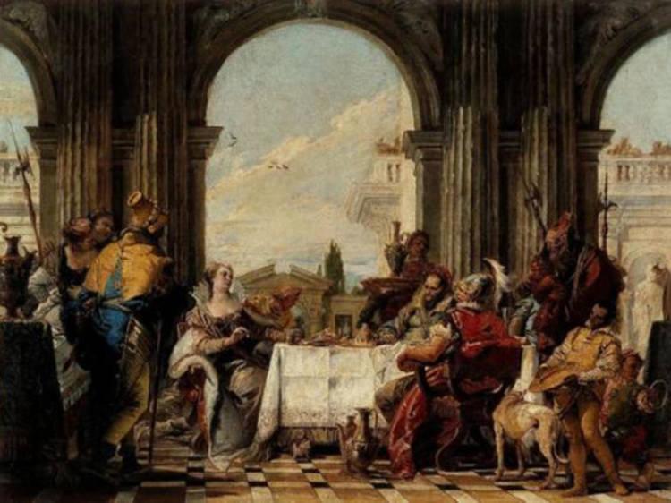 Musée Cognacq-Jay • Le Banquet de Cléopâtre (Giambattista Tiepolo, c. 1742-1743)