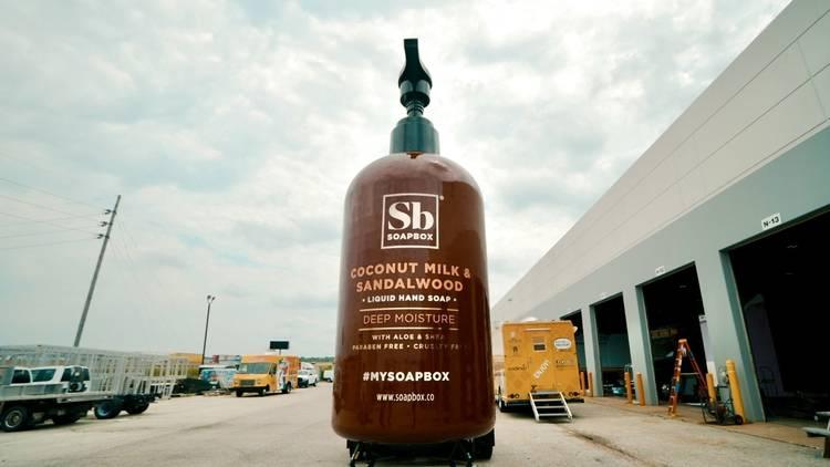 A 21-foot bottle of soap by Soapbox