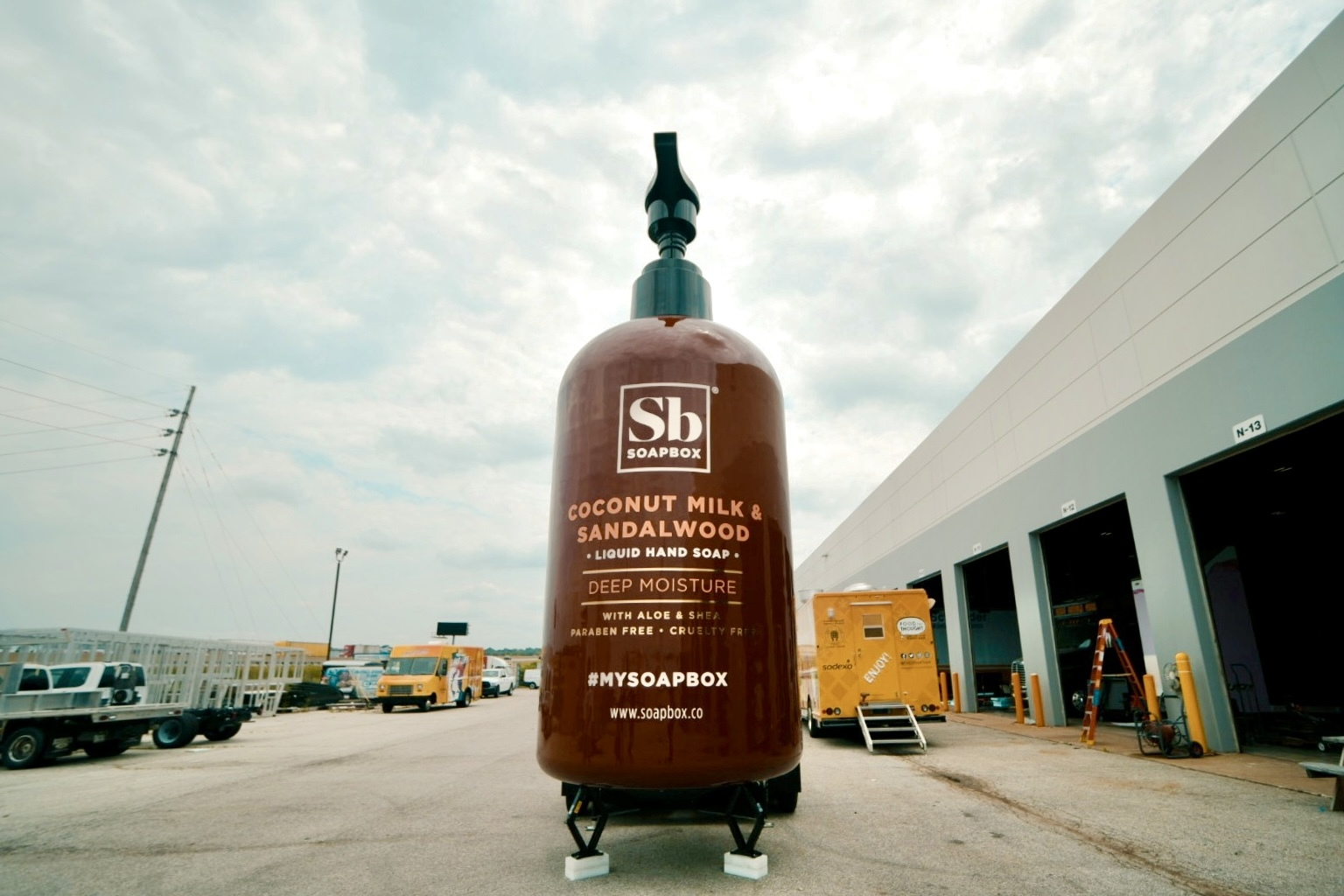 A 21-foot-tall bottle of soap is coming to Chicago this week