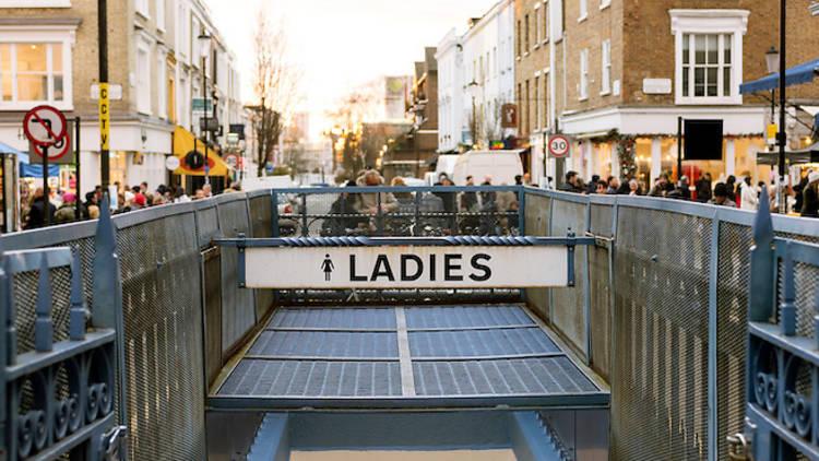 Public toilet sign London