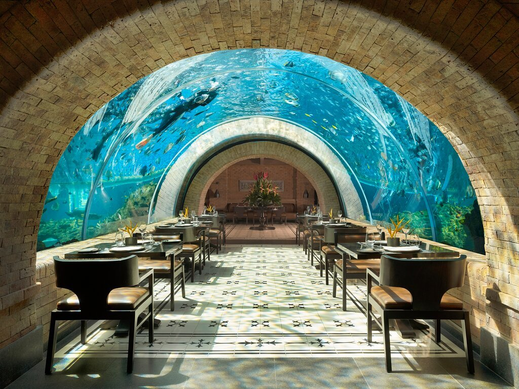 The world's most picture-perfect restaurant is nestled inside an aquarium