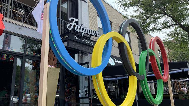 Olympics pop up at FatPour