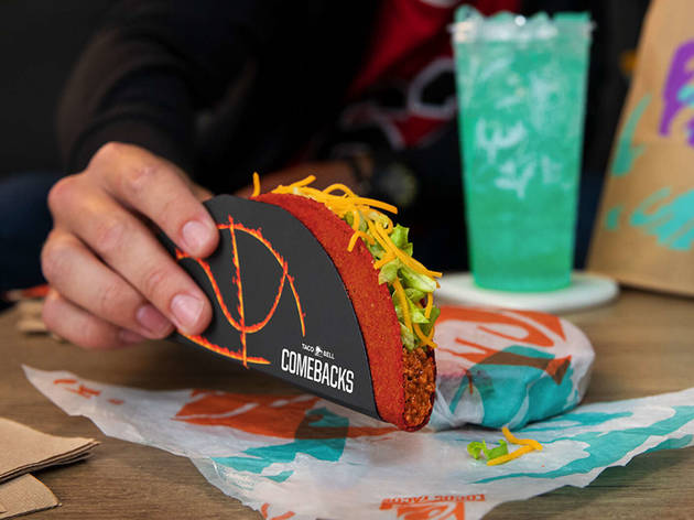 Taco Bell is dishing out free Flamin' Hot Doritos Locos tacos all day long