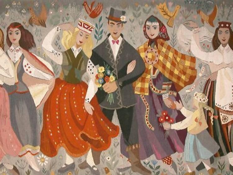 Tradición y modernidad. Arte textil de Letonia