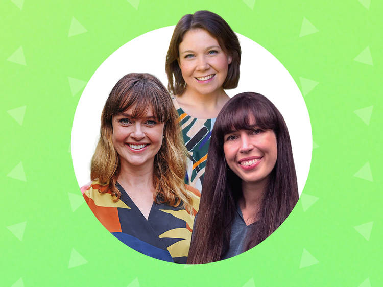 Anna Rose, Clare Ainsworth Herschell and Arielle Gamble from Groundswell Giving