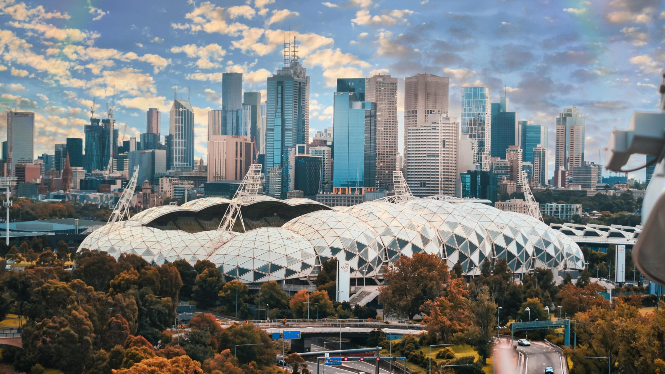 Photograph of the Melbourne CBD skyline.
