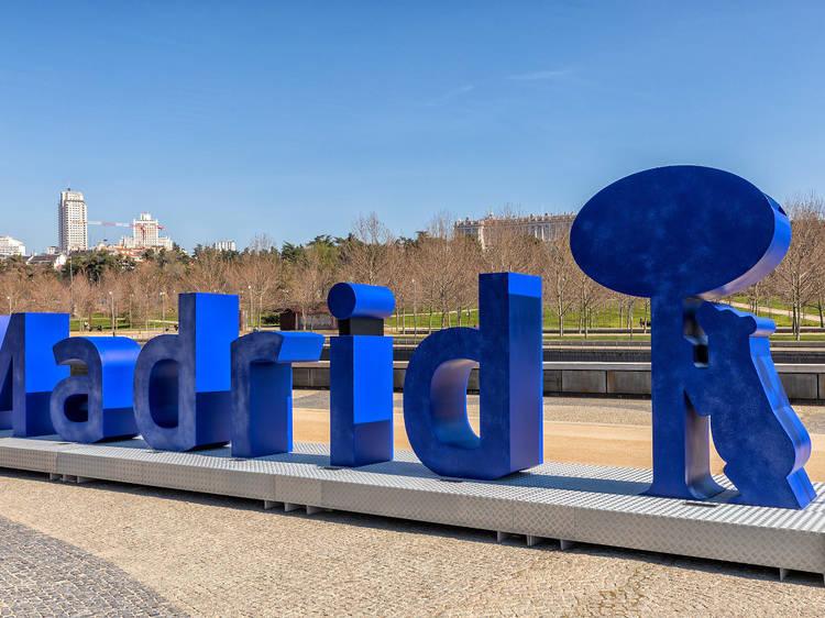 Las letras de Madrid Río