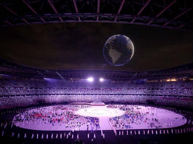 東京オリンピック開会式、近未来的なドローンの全貌を紹介