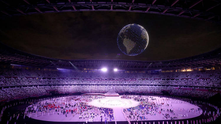 Tokyo Olympics opening ceremony, drone display