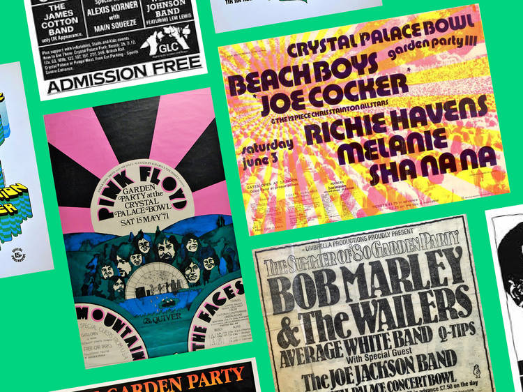 Check out these ace vintage posters from Crystal Palace Bowl's most iconic gigs
