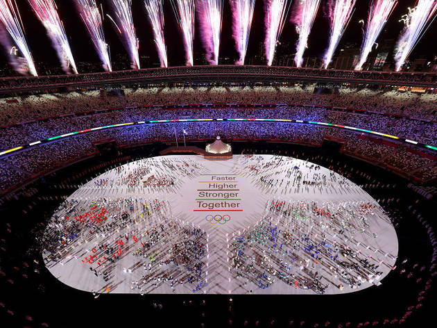 Tokyo Olympics opening ceremony – end of team parade