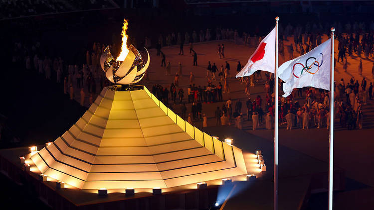 Tokyo Olympics opening ceremony, Olympic couldron, Olympic flame