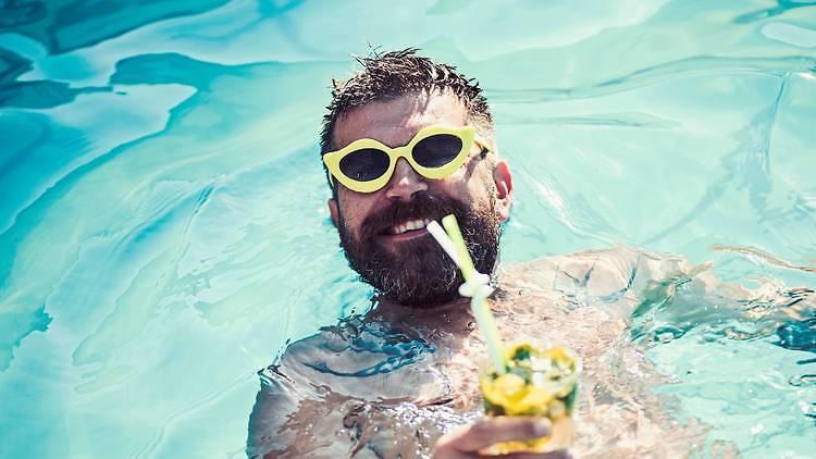 Guilty pleasure - guy in pool