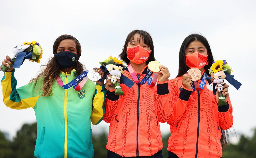 Tokyo Olympics, women's street skateboarding, Momiji Nishiya, Funa Nakayama, Rayssa Leal