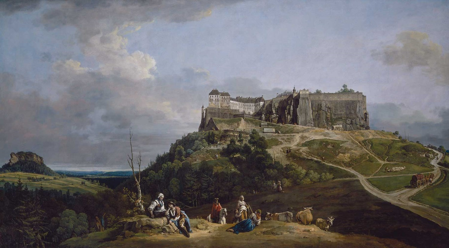 Bernardo Bellotto 'The Fortress of Königstein from the North-West' 1756–8