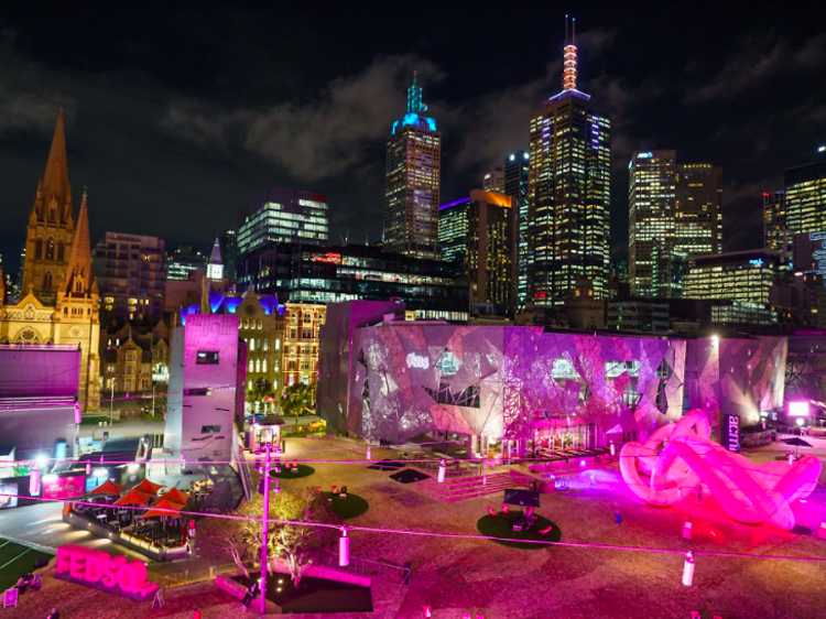 Melbourne's newest public artwork is a towering pink sculpture