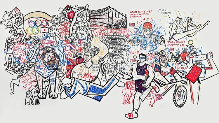 Ben Mosley's Team GB mural