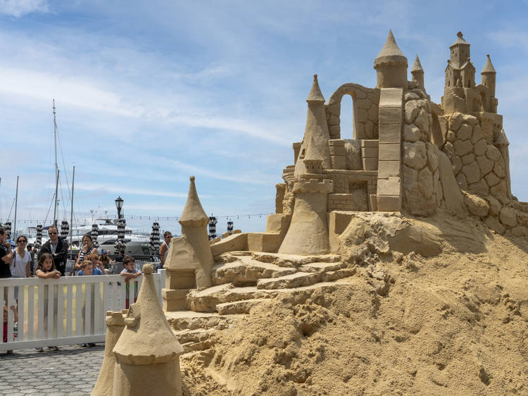 There's a giant sandcastle in the middle of Manhattan right now
