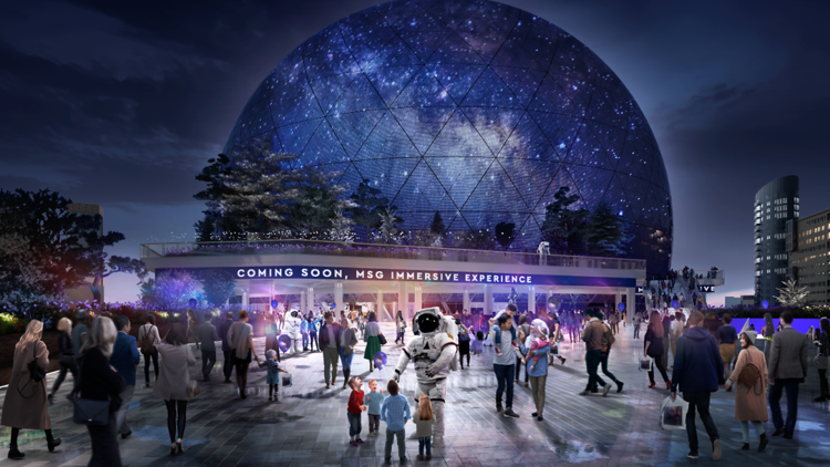 Planning drawing for a new dome shaped music venue