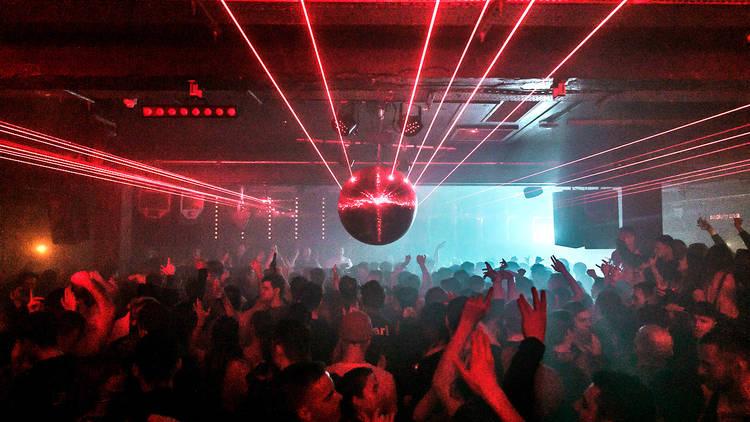 Crowded night club floor