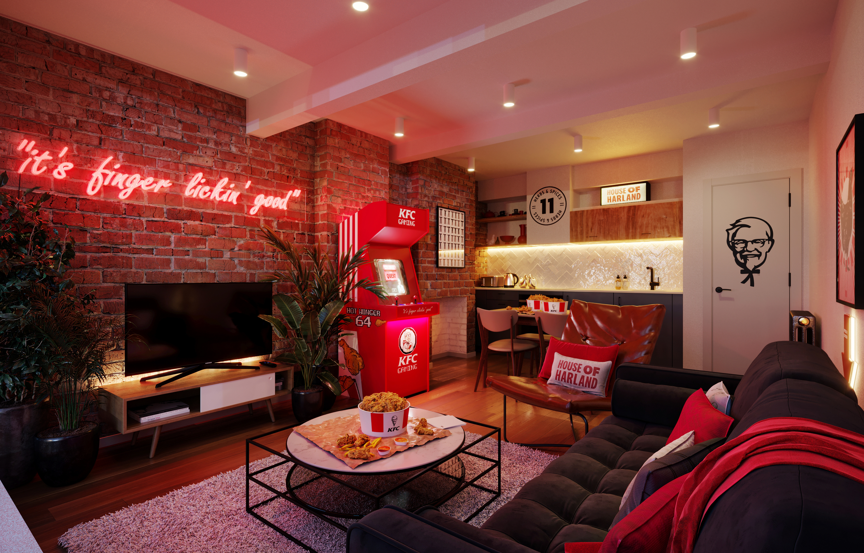 'Chick-in' at this finger lickin' KFC-themed hotel suite