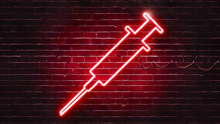 Neon needle
