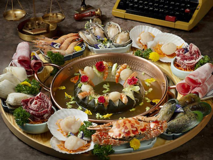香江花月:時令海鮮火鍋湯底