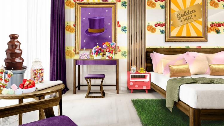 Willy Wonka hotel room