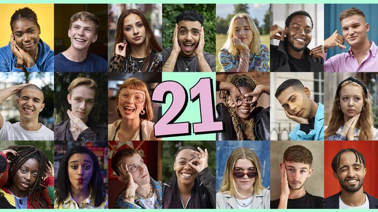 Twenty 21 year old portraits