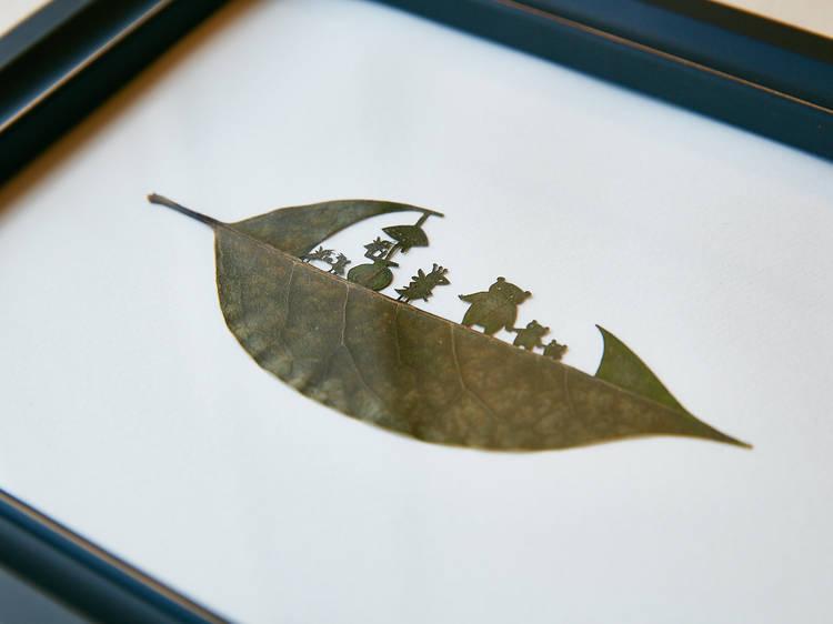葉っぱ切り絵は「今すぐ作品を出す」ための最短ルートだった