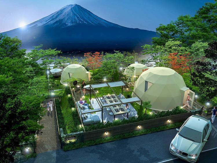 富士山の目の前にプライベートグランピング施設がオープン