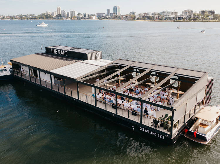 Party on the river at the Raft Perth