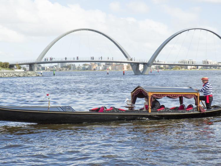 Take a gondola ride at Elizabeth Quay