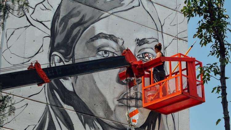 Festival de arte público constructo, arte urbano, Paola Delfín