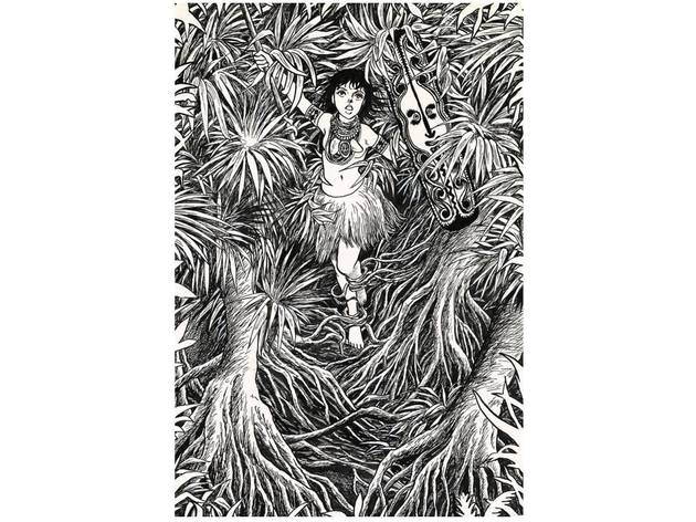 Photo: 『マッドメン』より「変身の森」扉絵原画  1981年 ©諸星大二郎