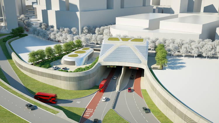 A rendering of the Silvertown Tunnel