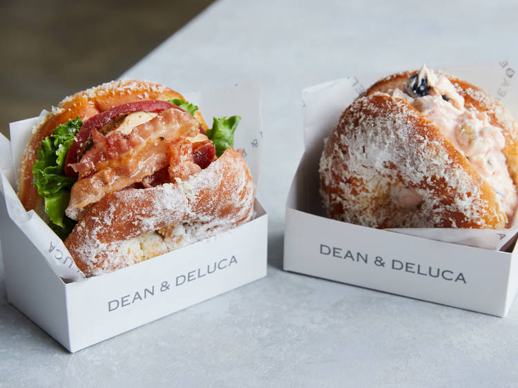 Doughnut sandwiches